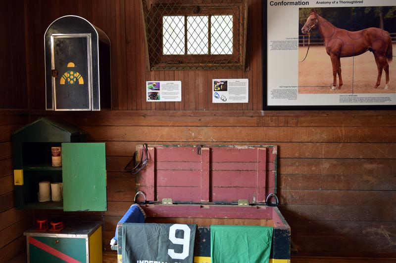 It Features The Various Equipment Used In Training Thoroughbreds. Visitors  Will Be Able To View Exercise And Racing Saddles, Bits, Horseshoes, Saddle  Cloths ...