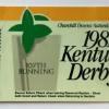 198 Kentucky Derby ticket.