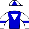 Racing silks of Buckland Farm which was owned by Thomas Mellon Evans, Sr.